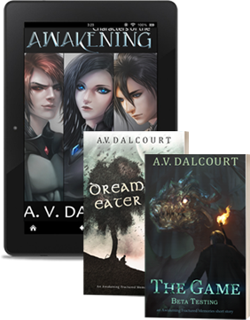 Join the Awakening Newsletter and get a small art book full of character illustrations and profiles, and two dark fantasy short stories set in the world of the Awakening